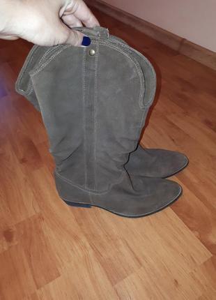 Сапоги  ботинки полуботинки натуральная замша