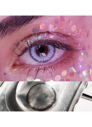 Лінзи сірі | цветные контактные линзы без диоптрий серые серого цвета  макияж