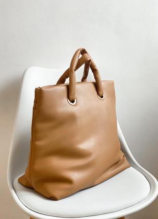 Сумка коричневая сумочка трендовая шопер mango