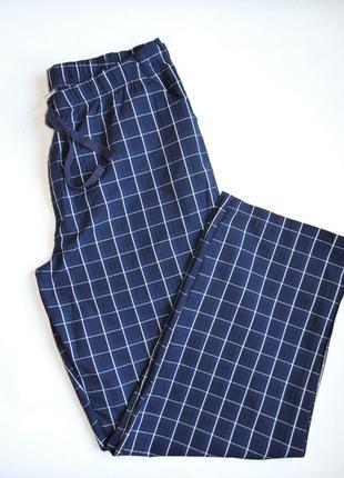 Брюки livergy домашние легкие,штаны для отдыха в клетку