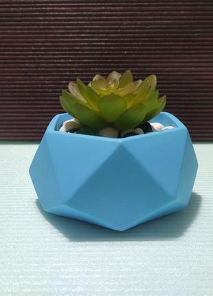 ☯ геометрическое бетонное кашпо под подсвечник, суккулент, мох, растение ☯