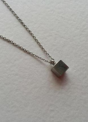 Колье ожерелье цепочка куб кубик геометрия кулон подвеска