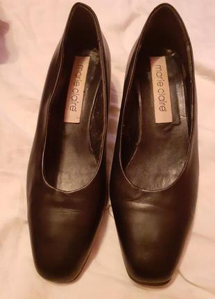 Туфли кожаные marie claire