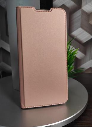 Кожаный чехол-книжка для xiaomi redmi note 8 pro пудровый