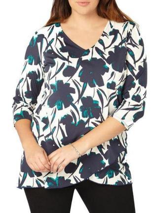 Блуза с цветочным принтом, легкая кофточка