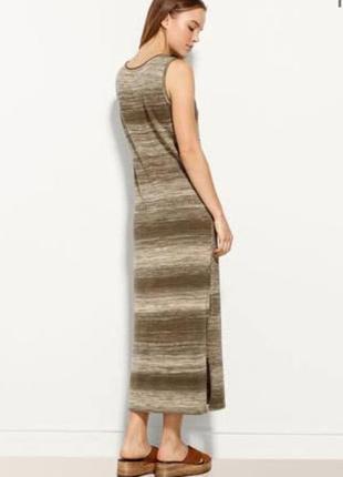 Шикарное миди платье с разрезами высокого качества из хлопка от massimo dutti