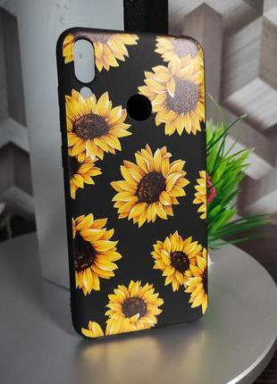 Силиконовый чехол для huawei y6p цветы