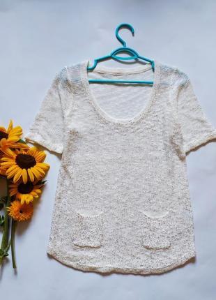 Трикотажная блуза футболка машинная вязка