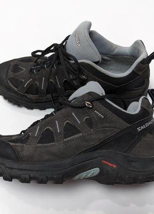 Salomon gore-tex женские горные трекинговые кроссовки водонепроницаемые 7.5uk / 26 см