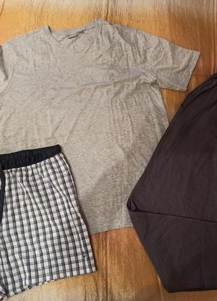 Мужская пижама тройка домашний костюм l 52-54 германия