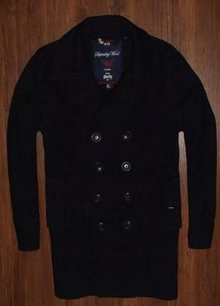 Superdry wool coat мужское зимнее пальто