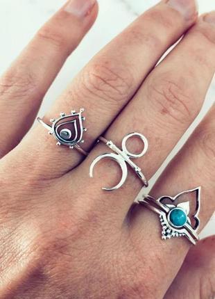 Набор колец кольца в стиле бохо этно