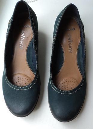 Туфли clarks 24 см   размер 37