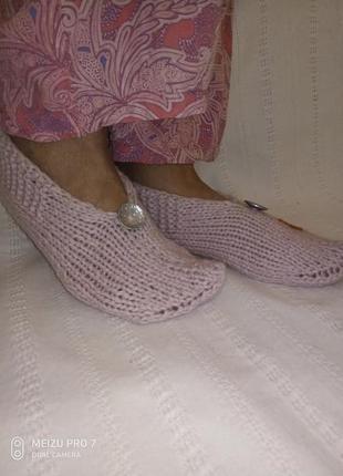Тапочки, носки, следки шерстяные, восточный стиль, ручная работа hand made.