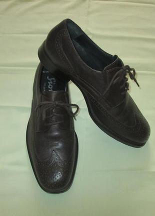 Кожаные туфли броги sioux германия как ecco lloyd