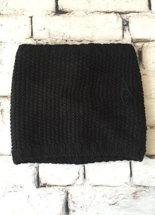 Зимовий снуд баф дуже теплий шарф на флісі чорного кольору лижний одяг
