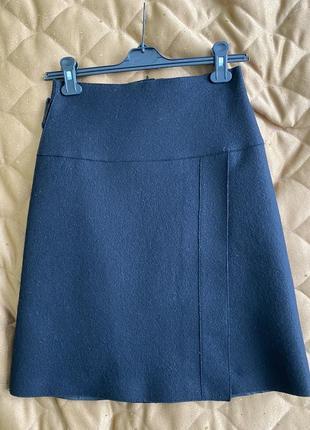 Люксовая юбка из шерсти