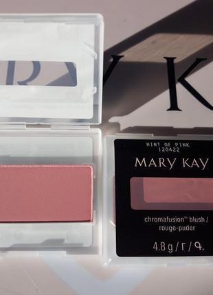Рум'яна chromafusion, рожевий блиск матов.hint of pink, мері кей, mary kay, мэри кей