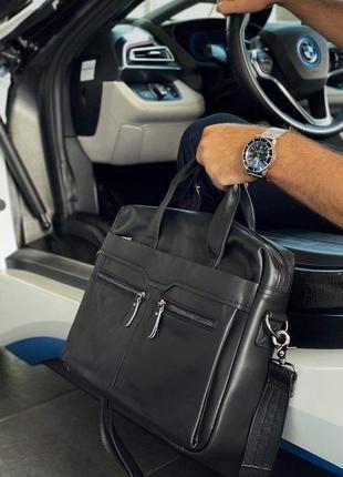 Топ👍мужской кожаный портфель сумка для ноутбука документов офисный мужской портфель