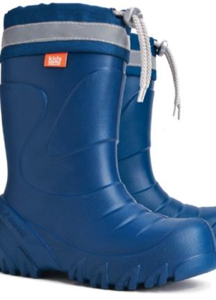 Зимние сноубутсы сапоги ботинки дутики на овчине демар demar mammut 22-35 синие