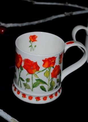Кружка чашка 400 мл dunoon garden flowers коллекционная костяной фарфор