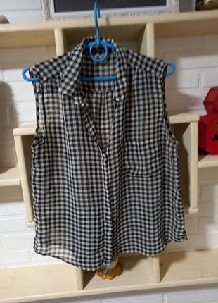 Блузка рубашка летняя mango