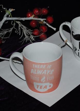Стильная чашка пудрового розового цвета англия для чая британия