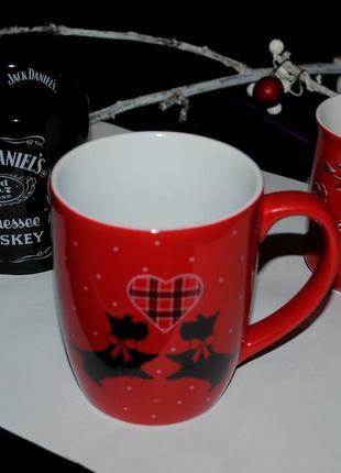 Чашка фарфор эксклюзив великобритания рождественская красная собаки