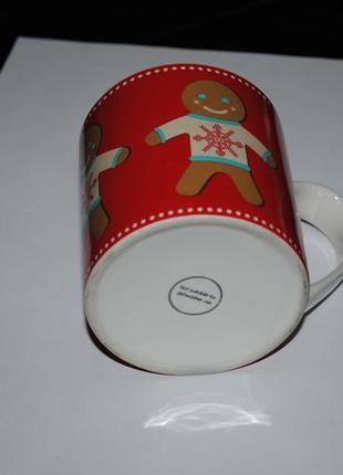 Новогодняя чашка из англия рождество печенька красная эксклюзив кружка