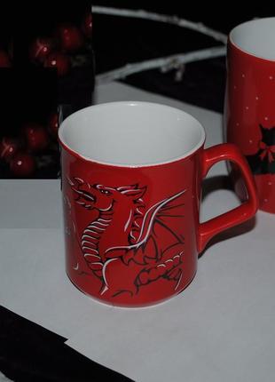 Wales красная кружка уэльса с дизайном голова дракона эксклюзив