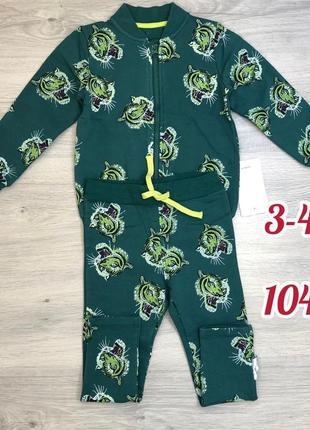 Утепленный костюм, комплект кофта-бомбер и штаны name it 3-4 года 104 см