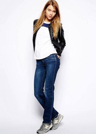 Брендовые женские темно-синие коттоновые джинсы monday denim fashion