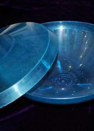 Фруктовница большая с крышкой синяя пластмассовая кастрюля пластиковая