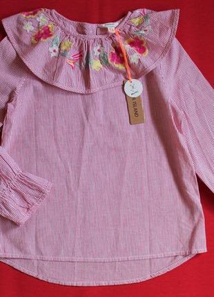 Блуза ,кофточка river island для девочки 4-5 лет (рост 110)