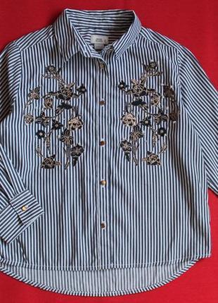 Блуза ,рубашка  river island для девочки 5-6 лет (рост 116)