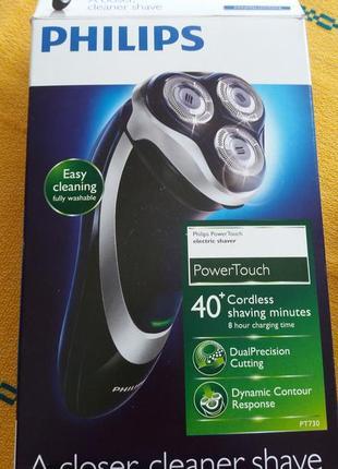 Новая электробритва philips power touch 730/16.