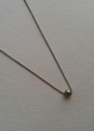 Цепочка колье ожерелье подвеска кулон бусина под горло