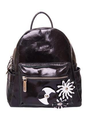 Рюкзак pierre cardin черный кожаный