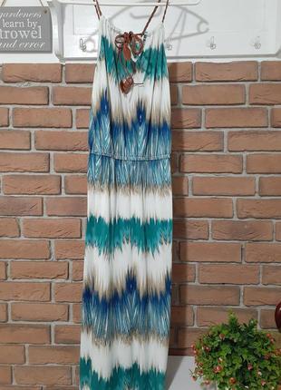 Красивое макси платье платье в пол р.m/l(италия)