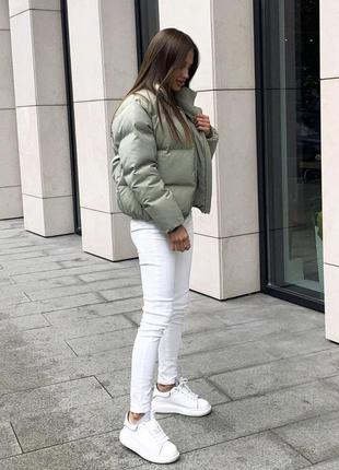 Куртка курточка пуховик парка пальто оливка