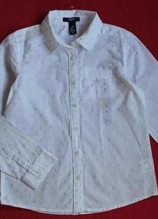 Рубашка gap для девочки 8-9 лет(на рост 130)