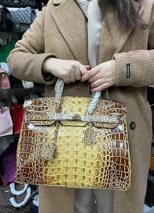 Сумка hermès birkin питон кроко