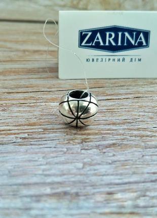 Шарм, бусинана браслет в стиле пандора серебро 925