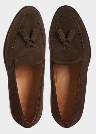 Замшевые туфли лоферы velasca milano