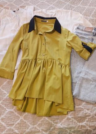 Горчичная блуза для беременных