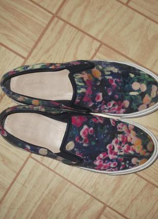 Clarks туфли мокасины 37 d
