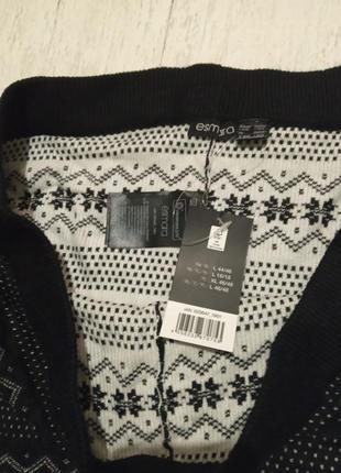 Теплые вязаные штанишки-лосины с зимним орнаментом esmara, l 44-46 евро4 фото