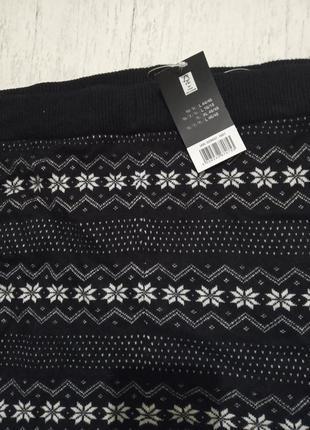 Теплые вязаные штанишки-лосины с зимним орнаментом esmara, l 44-46 евро6 фото