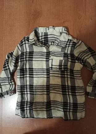 Рубашка на малышку 9-12 мес.