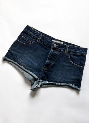 Джинсовые шорты короткие  topshop